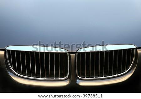 Eyes of a car - stock photo