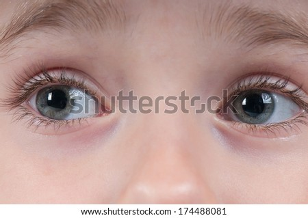 Eyes of a young girl. - stock photo