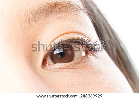 Eyes of the Asian woman - stock photo
