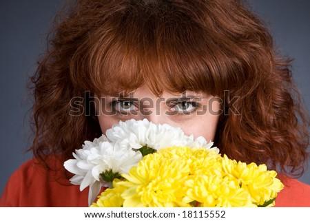 Eyes of the girl - stock photo