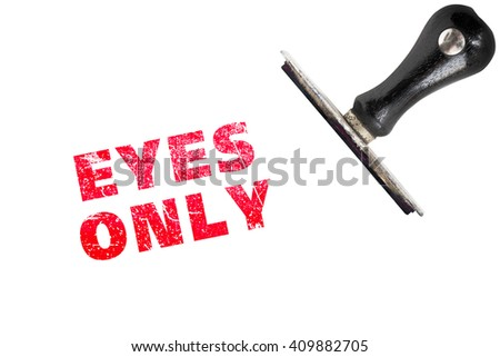 EYES ONLY stamp text with stamper