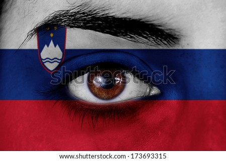 eyes Slovenia flag
