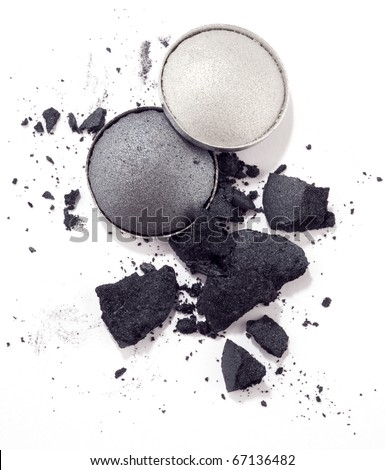eyeshadow isolated on white - stock photo