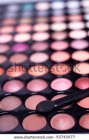 eyeshadow palette professional set extreme closeup DOF