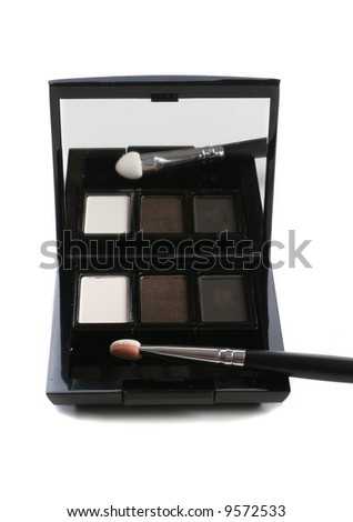 Eyeshadows box over white