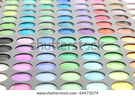 eyeshadows palette - stock photo