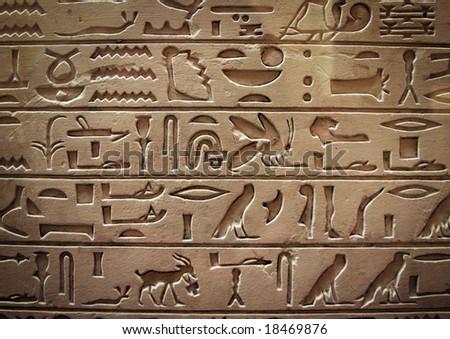 eygptian hieroglyphics - stock photo