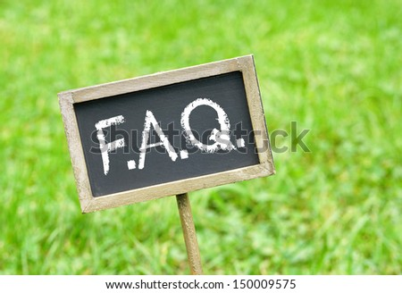 F.A.Q. - Frequently Asked Questions - stock photo