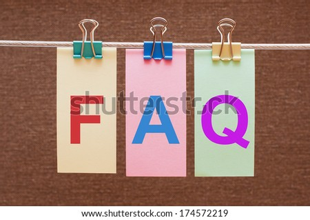 F.A.Q. Frequently asked questions - stock photo
