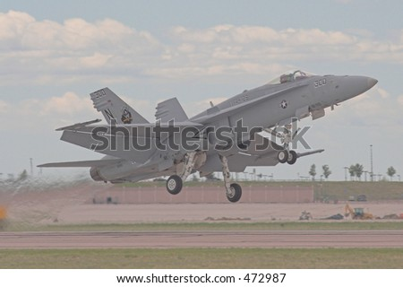F/A-18 touch and go - stock photo
