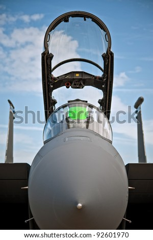 F-15 en face - stock photo