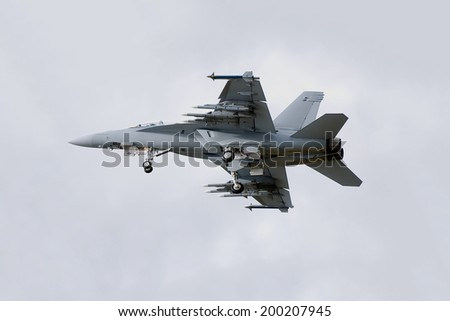 F-18 Fighter Jet - stock photo