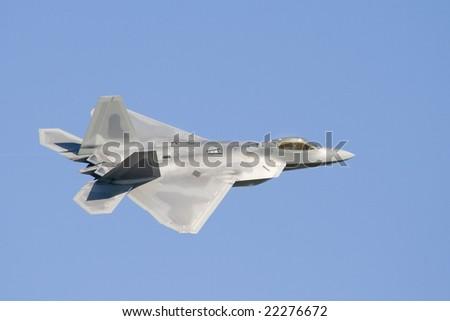 F-22 fighter jet - stock photo