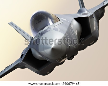 F35 Fighter jet close up. - stock photo