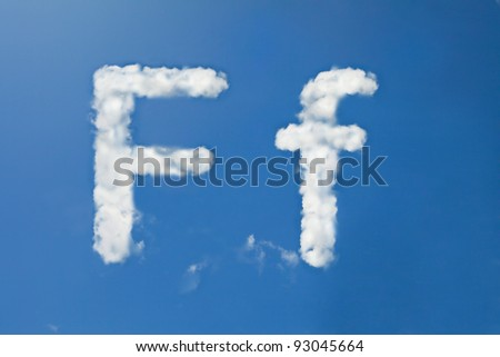 F font clouds - stock photo