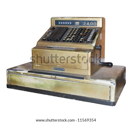 F5-Grungy Cash Register