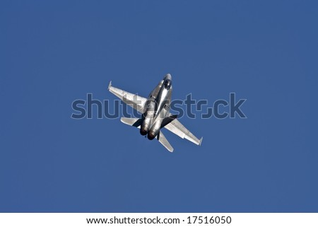 F-18 Hornet performs at an air Show at the Canadian National Exhibition in Toronto, Ontario.