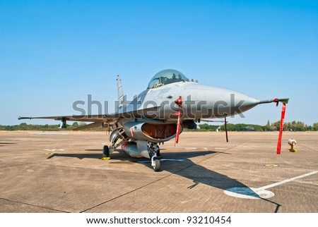 F-16 jet fighter - stock photo