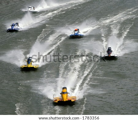 F1 powerboat race - stock photo