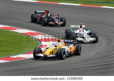 F1 race Kuala Lumpur 2008 - stock photo