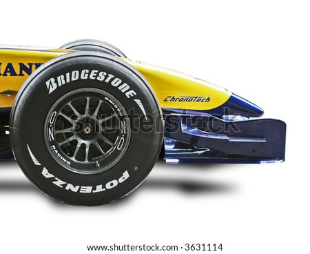 F1 Racing Car Isolated - stock photo