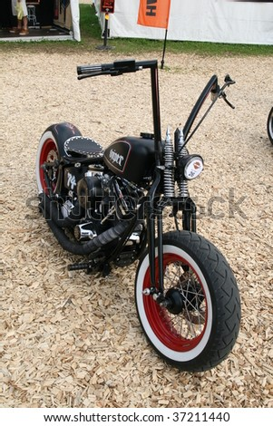 FAAKER SEE, AUSTRIA - SEPTEMBER 11: A custom motorcycle is shown at European Bike Week on September 11, 2009 in Faaker See, Austria. The event is billed as the largest European motorcycle event. - stock photo