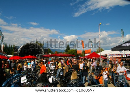 FAAKER SEE, AUSTRIA - SEPTEMBER 11: Custom motorcycles are shown at European Bike Week on September 11, 2010 in Faaker See, Austria. The event is billed as the largest European motorcycle event. - stock photo