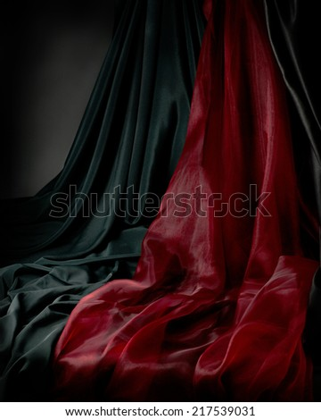 Fabric background for classic still life. - stock photo