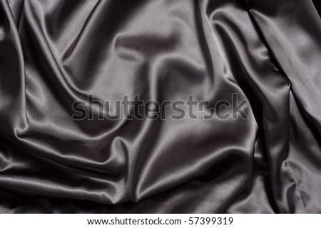 Fabric background in black color - stock photo