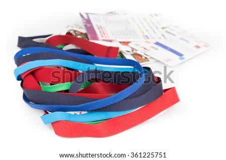 Fabric badge lanyard - stock photo