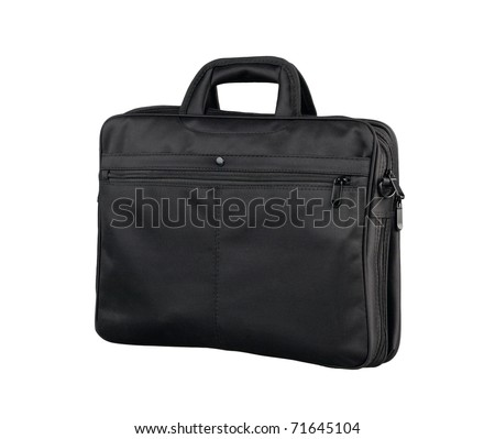 Fabric briefcase for your document and laptop - stock photo