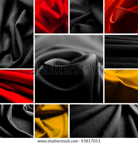 fabric collage - stock photo