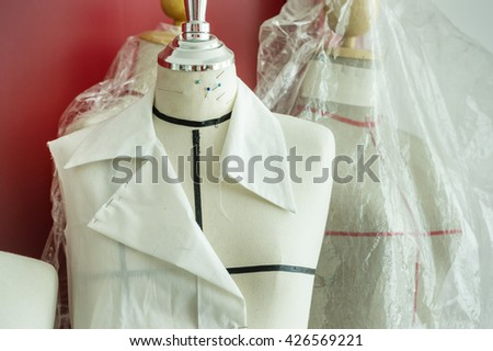 fabric dummy - stock photo