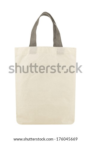Fabric eco bag isolated on a white background