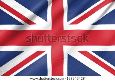 Fabric Flag of United Kingdom - stock photo