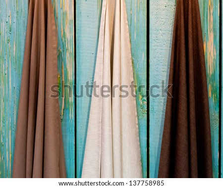 Fabric for cutting. - stock photo