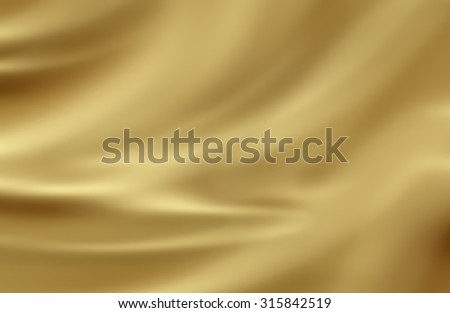 fabric golden blurred textured background - stock photo