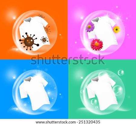 fabric hand washing  - stock photo