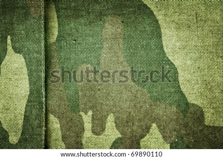Fabric khaki camouflage. Raster - stock photo