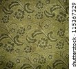 fabric material with floral pattern - stock photo