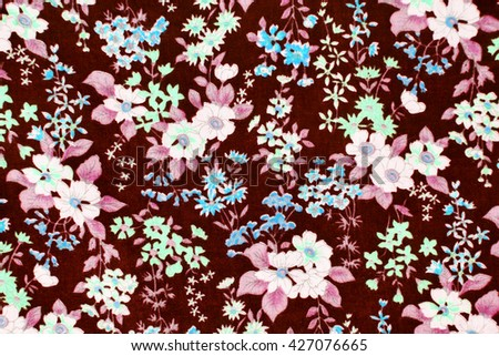 fabric pattern with flowers  background