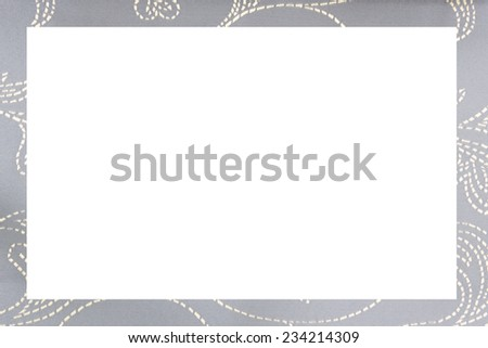 fabric picture frame - stock photo