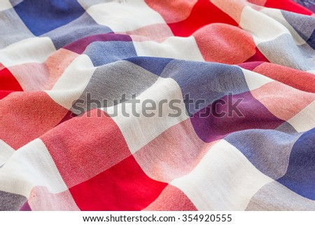 Fabric plaid texture for background. - stock photo