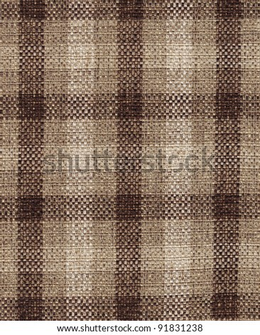 Fabric plaid texture. (High res. scan.) - stock photo