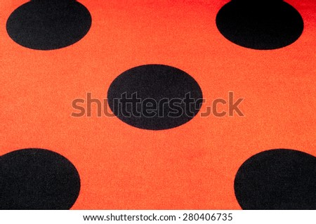 Fabric red polka dots, textile, cloth, fabric, material, texture. of or relating to fabric or weaving. - stock photo