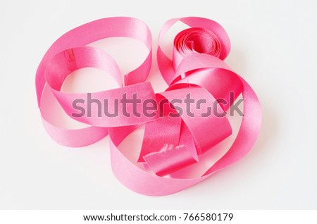 Fabric ribbon isolate on white background