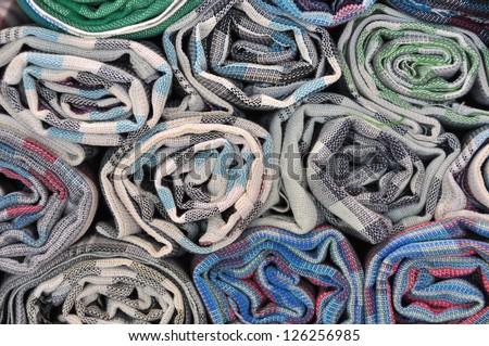 Fabric roll - stock photo