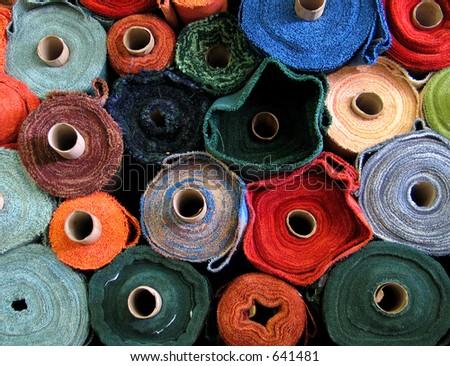 Fabric rolls - stock photo