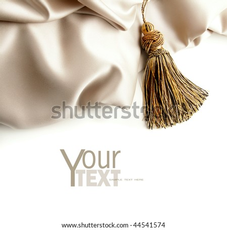 Fabric satin texture on white background - stock photo