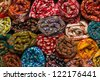 Fabric shop in India - stock photo